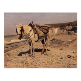 Ilya Repin- Horse for stones collecting in Vela Postcard