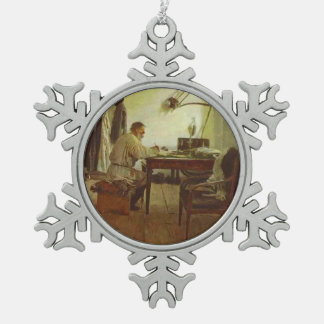 Ilya Repin- León Tolstói en su estudio Adorno