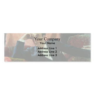 Ilya Repin- Portrait of actor and dramatist Double-Sided Mini Business Cards (Pack Of 20)