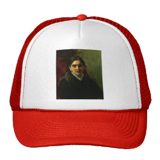 Ilya Repin- Portrait of Actress Pelagey Strepetova Trucker Hat