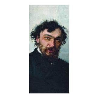 Ilya Repin- Portrait of Artist Ivan P. Pohitonov Rack Card Design