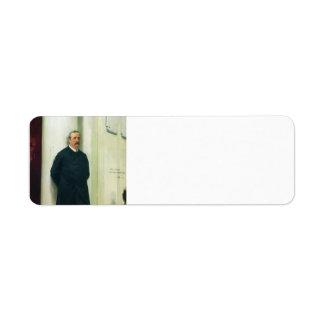 Ilya Repin- Portrait of composer and chemist Return Address Labels