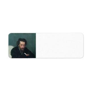 Ilya Repin- Portrait of composer and journalist Return Address Labels