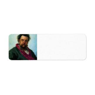 Ilya Repin- Portrait of Composer Modest Musorgsky Labels