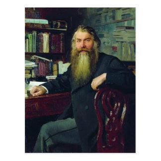 Ilya Repin-Portrait of historian & archaeologist Postcard