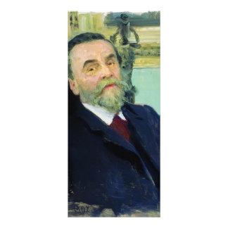 Ilya Repin- Portrait of Ivan Zvetkov Rack Card Design