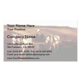 Ilya Repin- Portrait of Leo Tolstoy as a Ploughman Business Card Templates