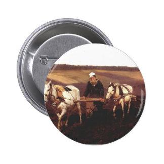 Ilya Repin- Portrait of Leo Tolstoy as a Ploughman Pinback Buttons