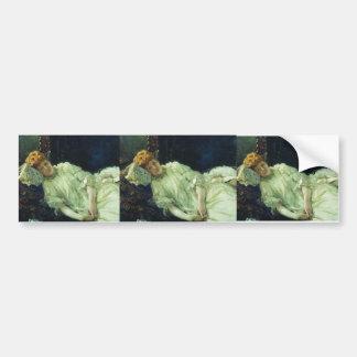 Ilya Repin- Portrait of Luiza Mersi D'arzhanto Car Bumper Sticker