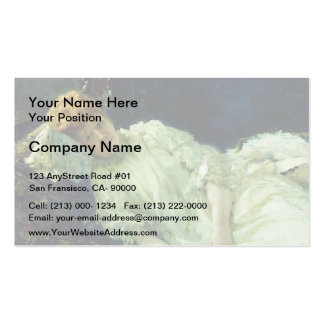 Ilya Repin- Portrait of Luiza Mersi D'arzhanto Double-Sided Standard Business Cards (Pack Of 100)