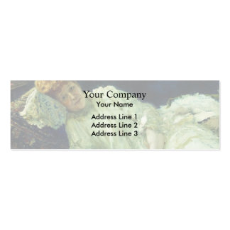 Ilya Repin- Portrait of Luiza Mersi D'arzhanto Double-Sided Mini Business Cards (Pack Of 20)