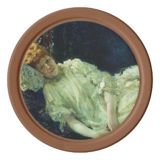 Ilya Repin- Portrait of Luiza Mersi D'arzhanto Poker Chips
