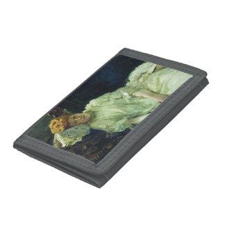 Ilya Repin- Portrait of Luiza Mersi D'arzhanto Trifold Wallets
