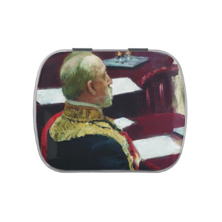 Ilya Repin- Portrait of member of State Council Jelly Belly Candy Tin