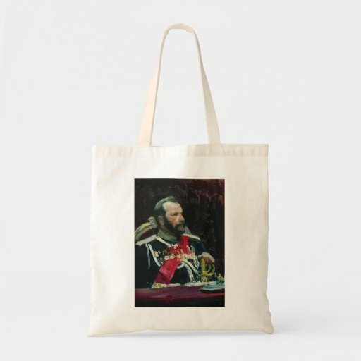 Ilya Repin- Portrait of members of State Canvas Bag