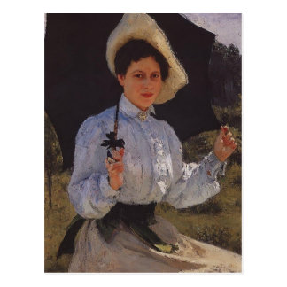 Ilya Repin- Portrait of Nadezhda Repina Postcard