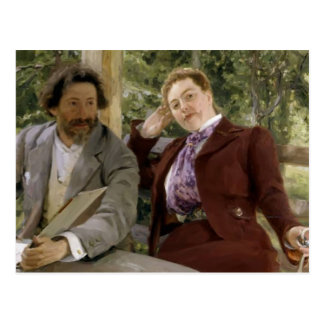 Ilya Repin-Portrait of Natalia Nordmann,Ilya-Repin Postcard