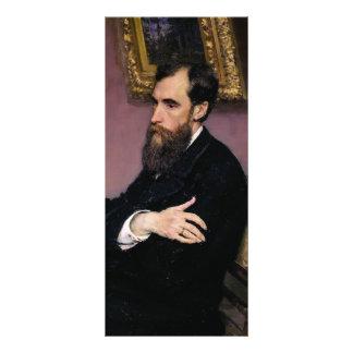 Ilya Repin- Portrait of Pavel Tretyakov Customized Rack Card