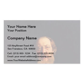 Ilya Repin- Portrait of poet and slavophile Business Card Templates