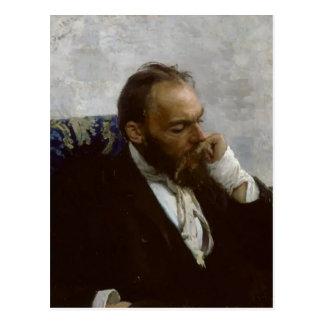 Ilya Repin- Portrait of Professor Ivanov Postcard