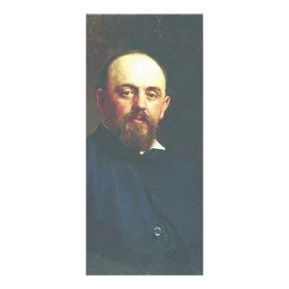 Ilya Repin-Portrait of railroad tycoon Custom Rack Cards