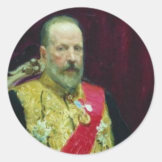 Ilya Repin- Portrait of Sergey Vitte Round Sticker