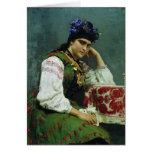 Ilya Repin- Portrait of Sophia Dragomirova Greeting Card