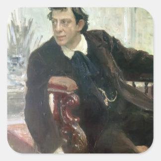 Ilya Repin- Portrait of the Actor Pavel Samoylov Square Sticker