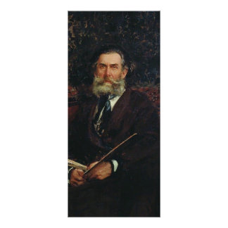Ilya Repin- Portrait of the Artist A. P. Bogolubov Rack Card