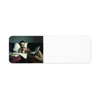 Ilya Repin-Portrait of the Composer Mikhail Glinka Return Address Label