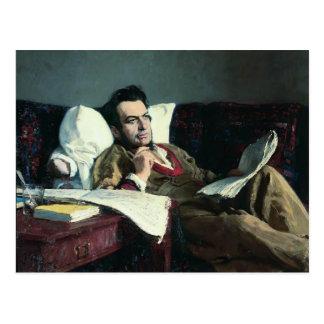 Ilya Repin-Portrait of the Composer Mikhail Glinka Postcard