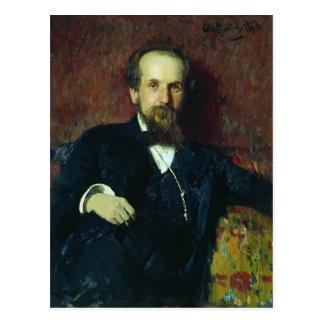 Ilya Repin- Portrait of the Narratorb Postcard