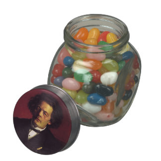 Ilya Repin-Portrait of the pianist Glass Candy Jars