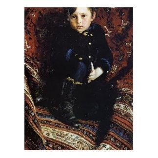 Ilya Repin- Portrait of Yuriy Repin, Artist's son Postcard