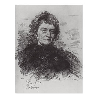 Ilya Repin:Portrait of Zinaida Nikolayevna Gippius Post Cards