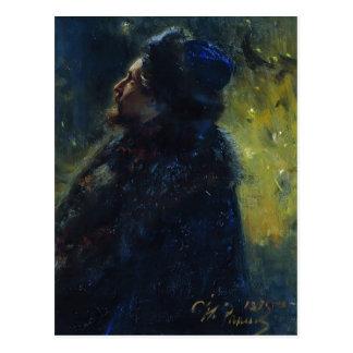Ilya Repin- Portrait Viktor Mikhailovich Vasnetsov Post Cards