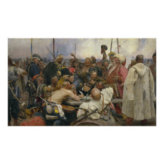 Ilya Repin Reply of the Zaporozhian Cossacks Poster