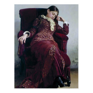 Ilya Repin- Rest. Portrait of Vera Repina Postcard