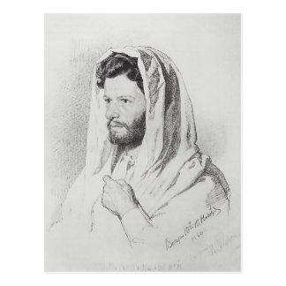Ilya Repin: Retrato de la marca Antokolski del esc Postal