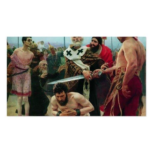 Ilya Repin- San Nicolás ahorra a tres Innocents Tarjetas De Visita