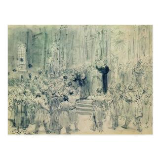 Ilya Repin: Sermon of Josaphat Kuntsevich,Belarus Postcards