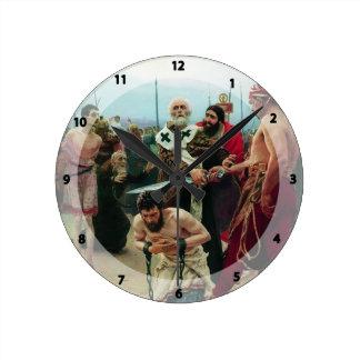 Ilya Repin- St. Nicholas Saves Three Innocents Round Clocks