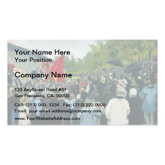 Ilya Repin- The Annual Memorial Meeting in Paris Business Card Template