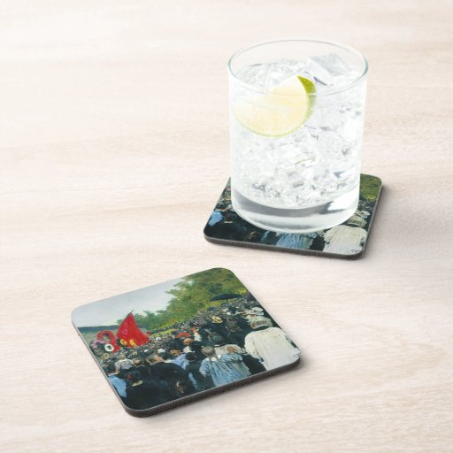 Ilya Repin- The Annual Memorial Meeting in Paris Coasters
