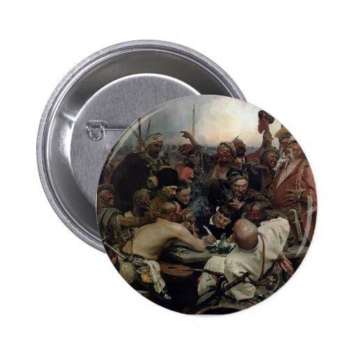 Ilya Repin- The Reply of the Zaporozhian Cossacks Button