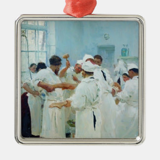 Ilya Repin- The Surgeon in Operating Theater Christmas Tree Ornaments