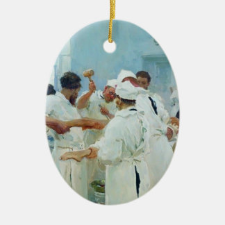 Ilya Repin- The Surgeon in Operating Theater Christmas Tree Ornament