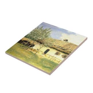 Ilya Repin- Ukrainian peasant house Ceramic Tile