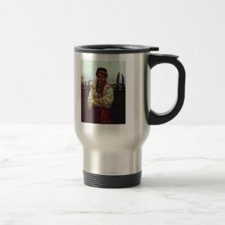 Ilya Repin- Ukranian Girl by a Fence Coffee Mug