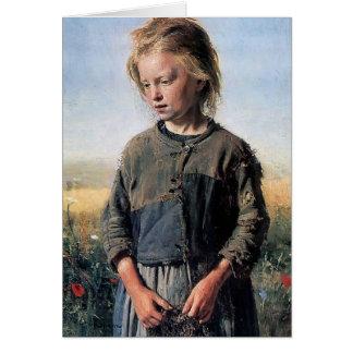 Ilya Repin- un chica de Fisher Tarjeta De Felicitación